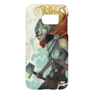 Thor Profile With Mjolnir Samsung Galaxy S7 Case