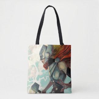 Thor Profile With Mjolnir Tote Bag