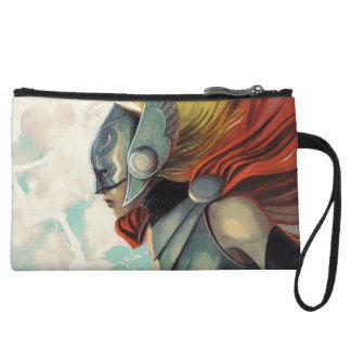 Thor Profile With Mjolnir Wristlet