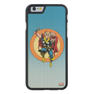 Thor Punch Attack Retro Graphic Carved Maple iPhone 6 Case