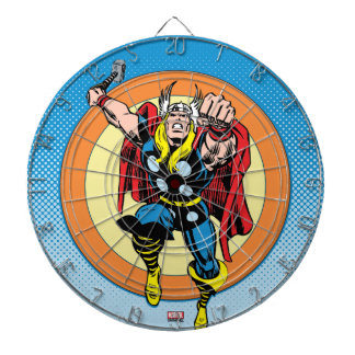 Thor Punch Attack Retro Graphic Dartboard