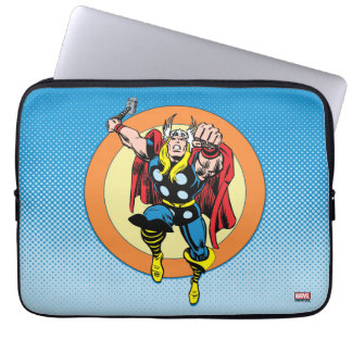 Thor Punch Attack Retro Graphic Laptop Sleeve