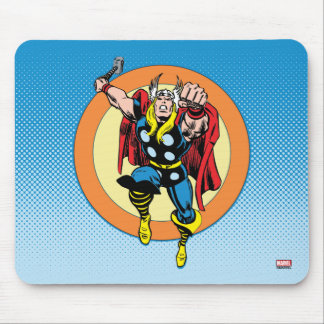 Thor Punch Attack Retro Graphic Mouse Pad