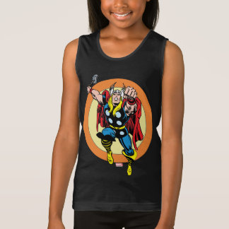 Thor Punch Attack Retro Graphic Tank Top