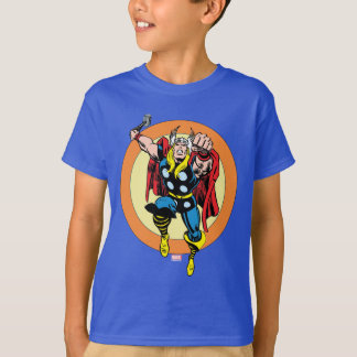 Thor Punch Attack Retro Graphic Tee Shirts