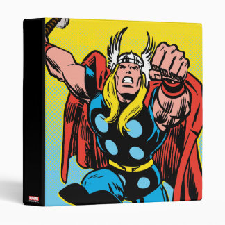 Thor Punching Attack 3 Ring Binder