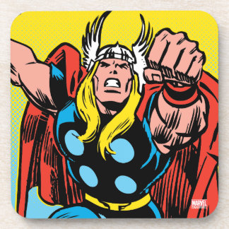 Thor Punching Attack Beverage Coaster