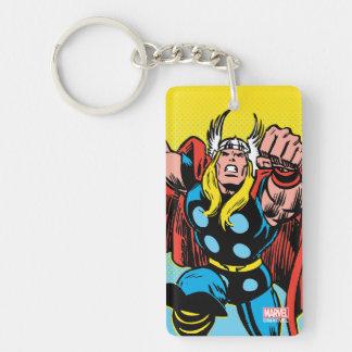 Thor Punching Attack Keychain