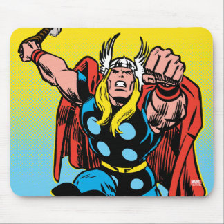 Thor Punching Attack Mouse Pad