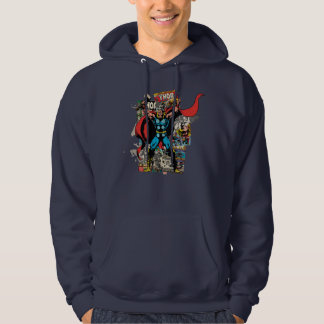 Thor Retro Comic Collage Hoodie