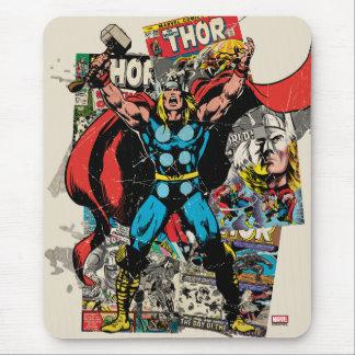 Thor Retro Comic Collage Mouse Pad