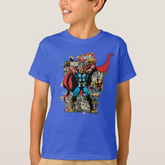 Thor Retro Comic Collage Shirts
