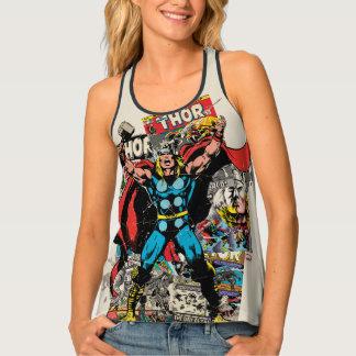Thor Retro Comic Collage Tank Top
