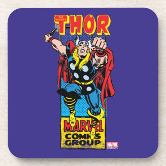 Thor Retro Comic Graphic Coaster