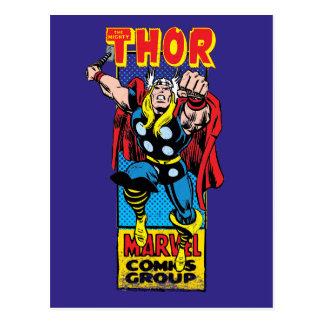Thor Retro Comic Graphic Postcard