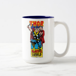 Thor Retro Comic Graphic Two-Tone Coffee Mug