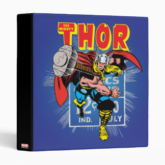 Thor Retro Comic Price Graphic 3 Ring Binders