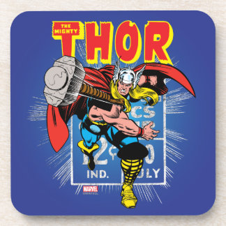 Thor Retro Comic Price Graphic Beverage Coasters