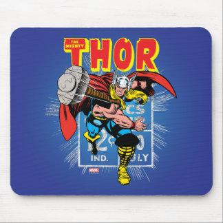 Thor Retro Comic Price Graphic Mouse Pad