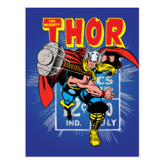 Thor Retro Comic Price Graphic Postcard