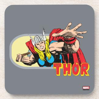Thor Retro Graphic Coaster