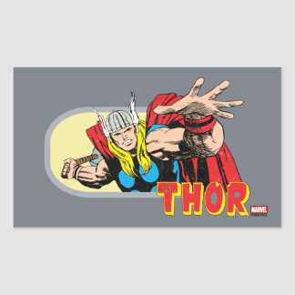Thor Retro Graphic Sticker