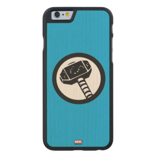 Thor Retro Hammer Icon Carved Maple iPhone 6 Case