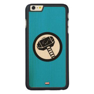 Thor Retro Hammer Icon Carved® Maple iPhone 6 Plus Case