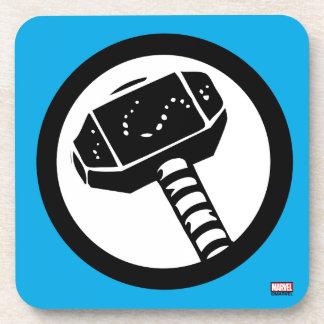 Thor Retro Hammer Icon Coaster