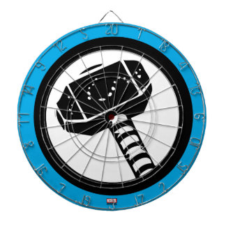 Thor Retro Hammer Icon Dartboard