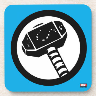 Thor Retro Hammer Icon Drink Coasters