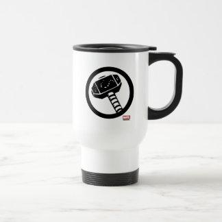 Thor Retro Hammer Icon Travel Mug