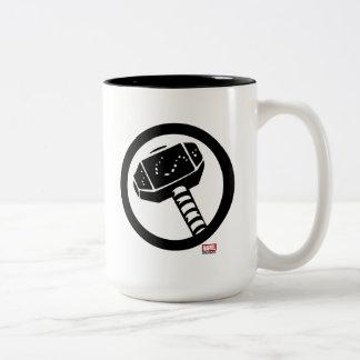 Thor Retro Hammer Icon Two-Tone Coffee Mug