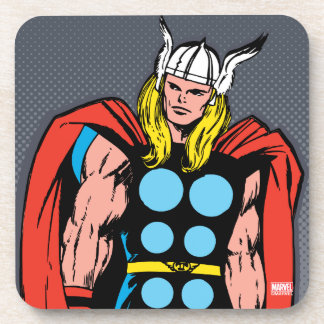 Thor Standing Tall Retro Comic Art Coaster