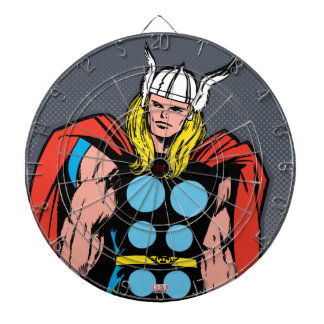 Thor Standing Tall Retro Comic Art Dartboard