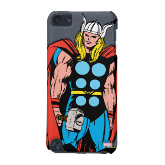 Thor Standing Tall Retro Comic Art iPod Touch (5th Generation) Cases