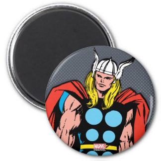 Thor Standing Tall Retro Comic Art Magnet
