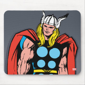 Thor Standing Tall Retro Comic Art Mouse Pad