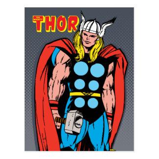 Thor Standing Tall Retro Comic Art Postcard