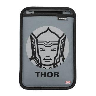 Thor Stylized Line Art Icon iPad Mini Sleeves