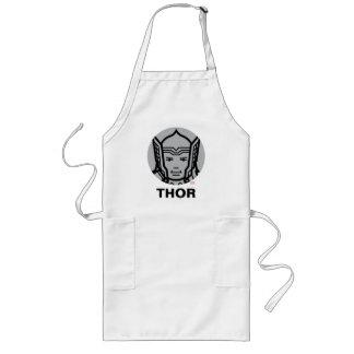 Thor Stylized Line Art Icon Long Apron