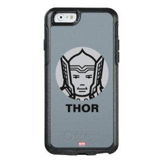 Thor Stylized Line Art Icon OtterBox iPhone 6/6s Case