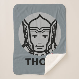 Thor Stylized Line Art Icon Sherpa Blanket