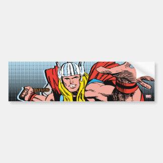 Thor Swing Back Mjolnir Bumper Sticker