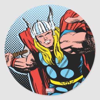 Thor Swing Back Mjolnir Classic Round Sticker