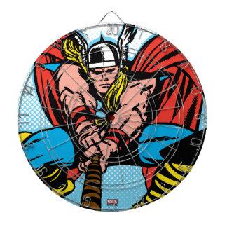Thor Swinging Mjolnir Forward Dartboard With Darts