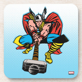 Thor Swinging Mjolnir Forward Drink Coasters