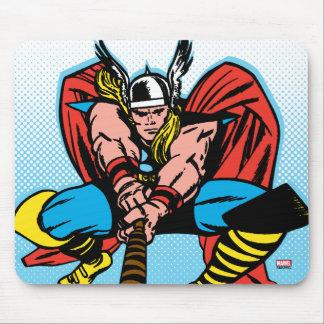Thor Swinging Mjolnir Forward Mouse Pad