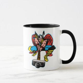 Thor Swinging Mjolnir Forward Mug