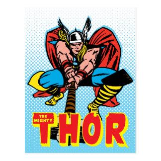 Thor Swinging Mjolnir Forward Postcard